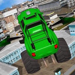 Flying Transformer Monster Truck Action Stunt