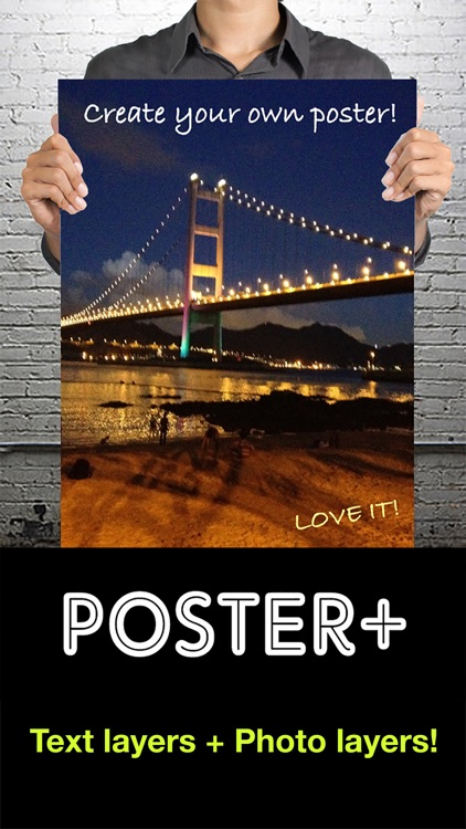 Poster+ : Text and Photo Layers, Design Templates