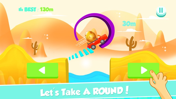 Tiny Car on Risky Road Adventure - Don't Fall the Big Golden Egg
