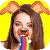 Snap editor de fotos de fotos para efeitos de face com adesivos para selfies engraçado