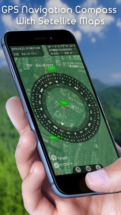 Commander Heading Compass - Minimalist, Digital GPS Finder