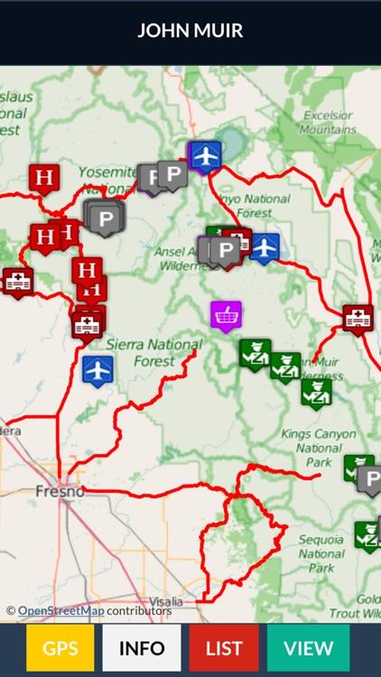 John Muir Trail Map Offline screenshot-3