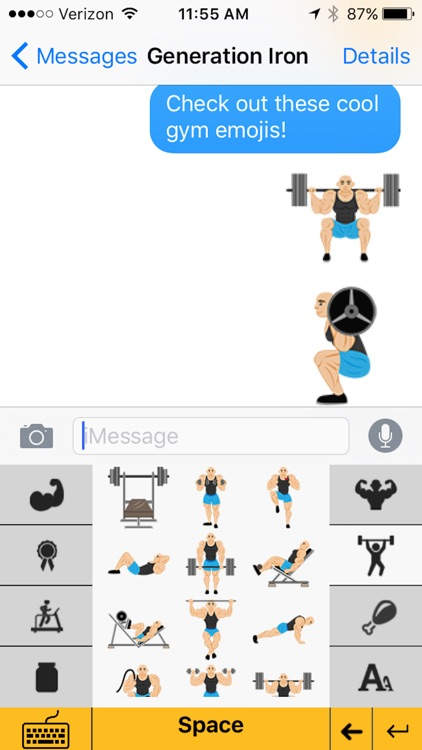 Gymoji - Bodybuilding Emoji Keyboard screenshot-4