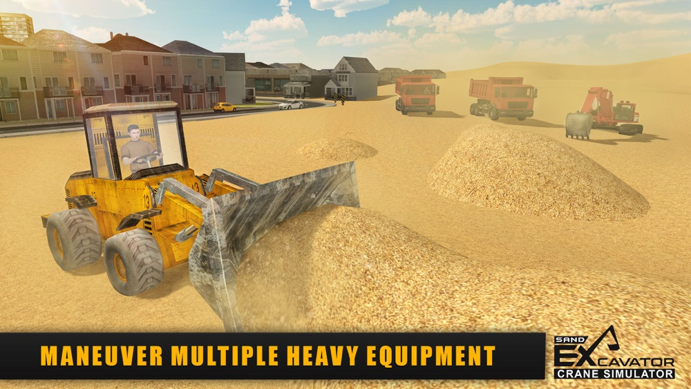 Sand Excavator Crane Simulator 3D - Be a Crane Operator & Drive loader Truck From Quarry To Construction Site hack tool