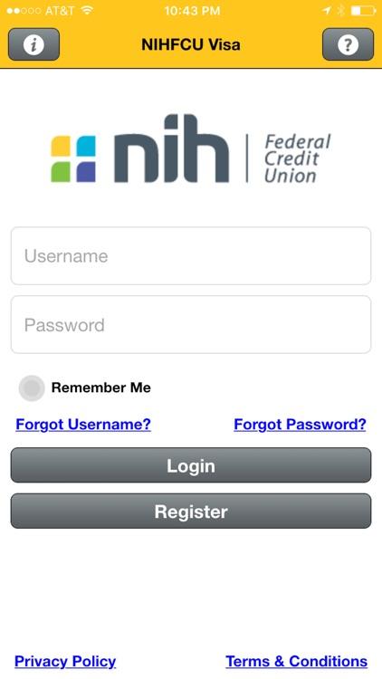 NIHFCU Visa Credit Card