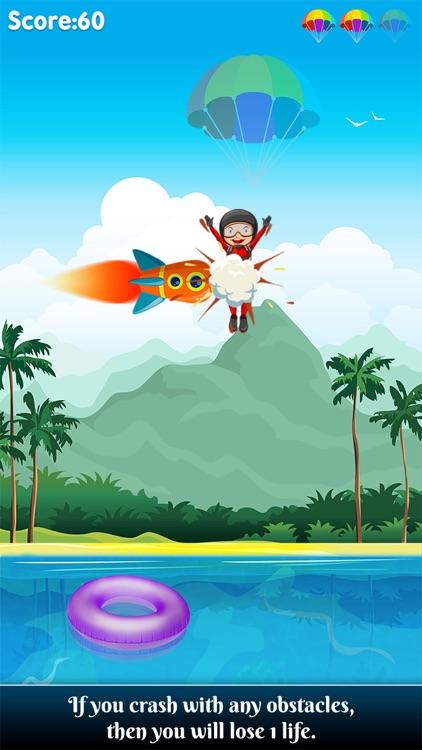 Parachute jump – A sky diving air stunt game screenshot-4