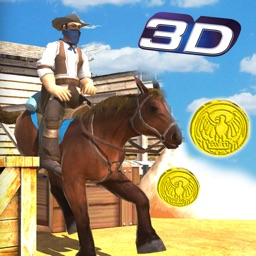 Wild Horse Run Simulator: Cowboy Horse stunt & jumping game in real wildwest city