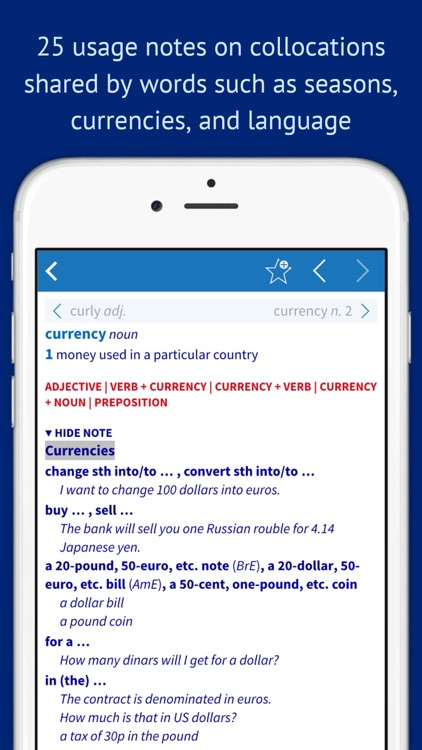 Oxford Collocations Dictionary for Students of English screenshot-3