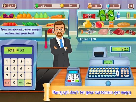 Супермаркет кассовый аппарат SIM- Дети образовательный торговые центры и управление временем весело игры на iPad
