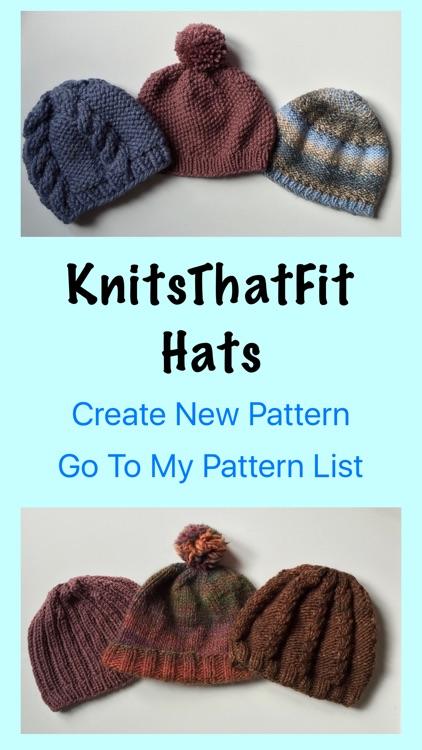 KnitsThatFit Hat Knitting Patterns Customisable!