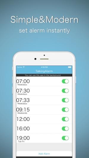 Talking Alarm Clock -free app with speech voice on the App Store