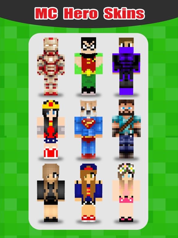 SuperHero Skins Pro - Export Skin for MineCraft Pocket Edition для iPad