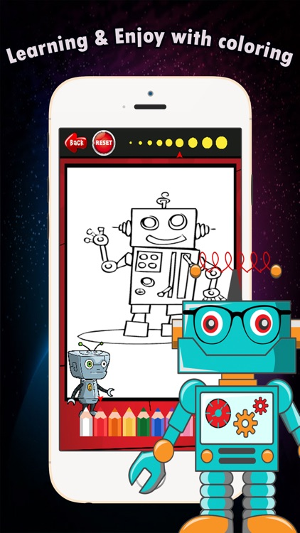 Coloring Book games free for children age 1-10: These cute robot transformer coloring pages provide hours of fun drawing or coloring activities