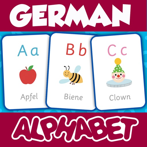 German Alphabets Flash Cards - Learn German for Kids