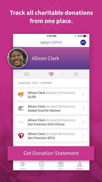 dailyKARMA: donate & fundraise with photos & video