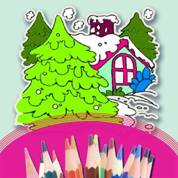 Colouring the Scenery Step By Step - Coloring Book For  Kids and Preschool Children