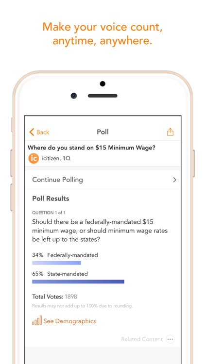 icitizen – Civic engagement and politics made easy screenshot-4