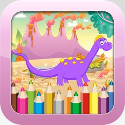 Dinosaur Coloring Book -  Educational Color and  Paint Games Free For kids and Toddlers