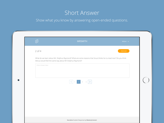 Socrative Student Screenshot 1