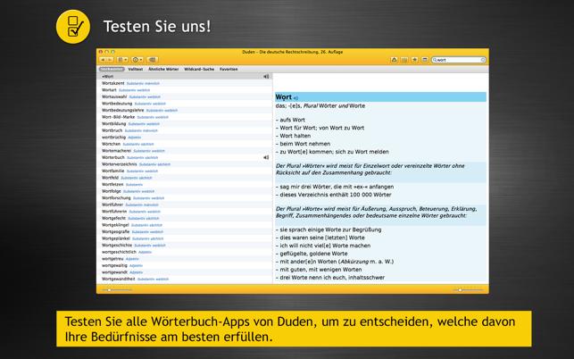 Duden Wörterbücher Deutsch Im Mac App Store