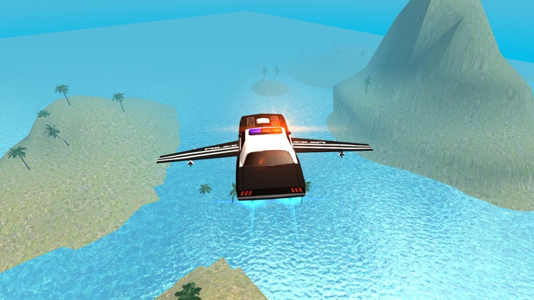 Flying Police Car Driving Simulator Free: Criminal Craft Chase