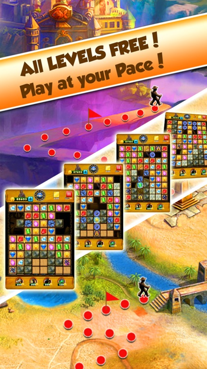 Super Jewel Mania 3 : Egypt Quest Match 3 Game screenshot-4