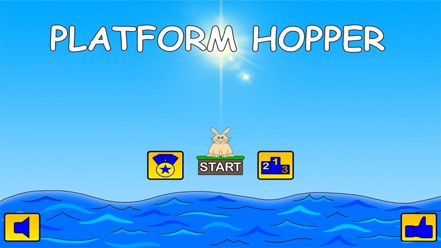 平台 料斗 - 无尽 兔 跳 游戏 所 把 反应 和 本能反应 速度 到 的 测试 App 截图