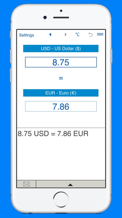 US Dollars to Euros and EUR to USD converter screenshot-1