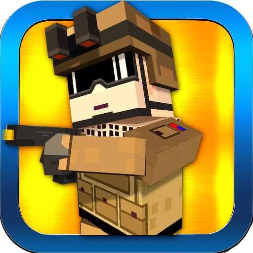 Mine Robbers vs Cops Wars - Block City Mini Prison Escape Shooting Game