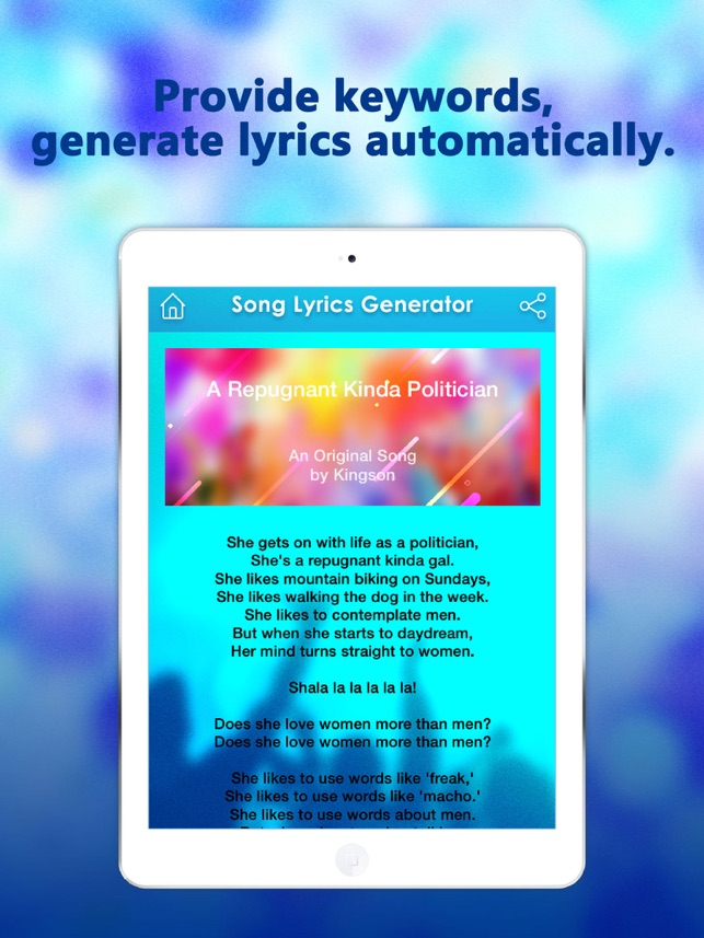 Lyric rap lyric generator : Lyric Generator - all style and rap lyrics maker on the App Store