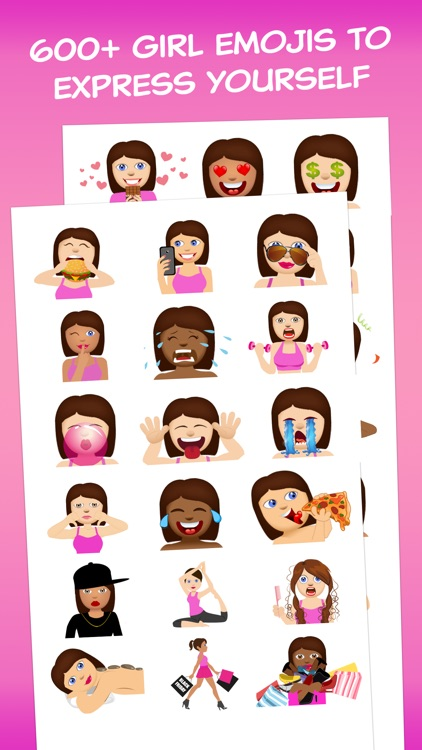 Girls Love Emoji - Extra Emojis for BFF Texts