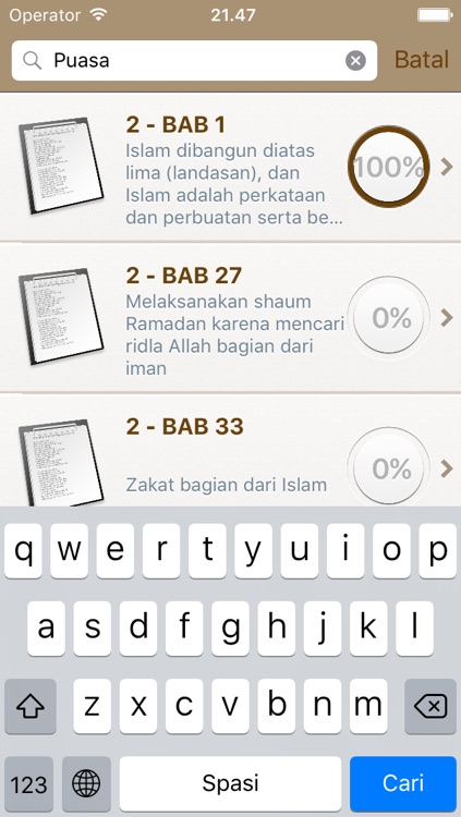Sahih Al-Bukhari in Indonesian Bahasa and in Arabic - +7000 Hadiths - صحيح البخاري screenshot-3