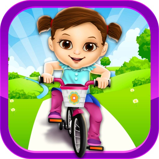 My New Baby Bike Story - Salon Spa Care, Newborn Dressup, Food Maker Games for Kids 2!