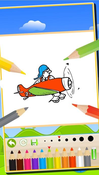 trenes de aviones vehículos libro para colorear: los niños diversión ...