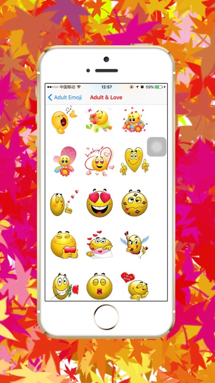 Adult Emoji - Sexy love flirty romantic icon keyboard screenshot-3