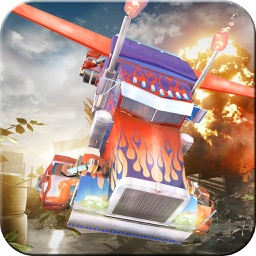 Flying Truck & Tank Air Attack - All in One Flying Train, Flying Tank & Flying Truck In this Jet flight Simulator Game