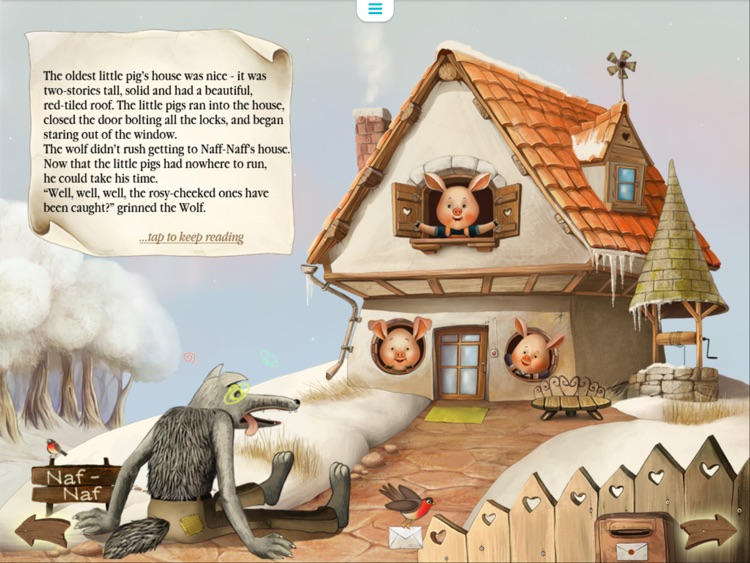 Three Little Pigs Today. Animated book for toddlers. screenshot-4