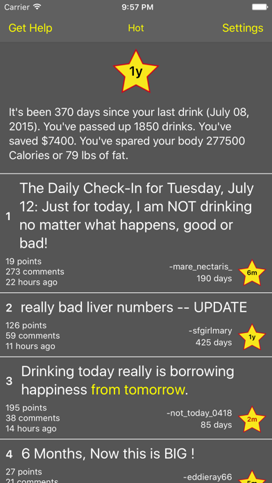 Stop Drinking Today screenshot one