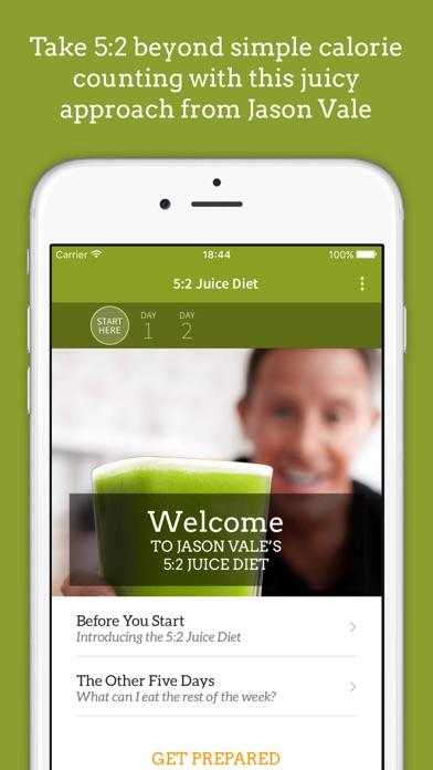 Jason Vale's 5:2 Juice Diet app image