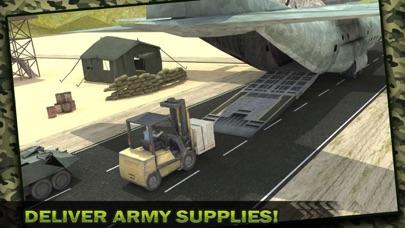 Ejército Carga Avión Vuelo Simulador: Transporte Guerra Tanque en Campo de batallaCaptura de pantalla de1