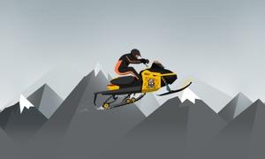 Snow Mobile Mountain Race TV