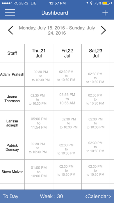 Work Center : Shift Scheduling & Staff Scheduling Manager screenshot one