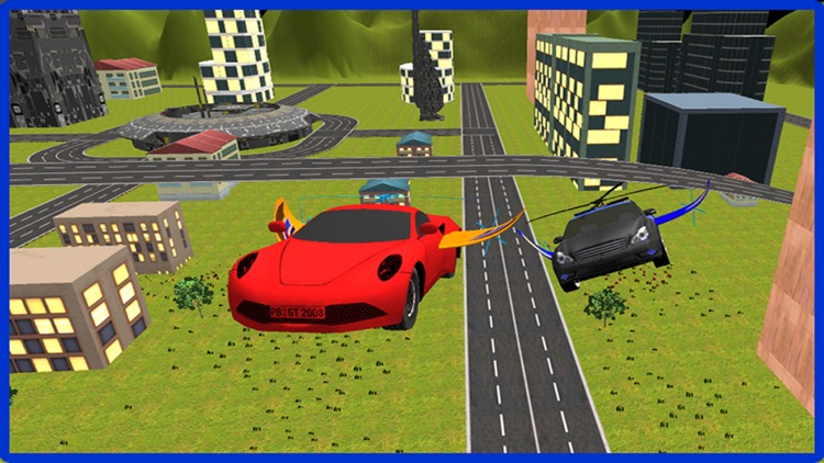 Flying Car Racing Police Chase – Futuristic Flying thief escape Simulator