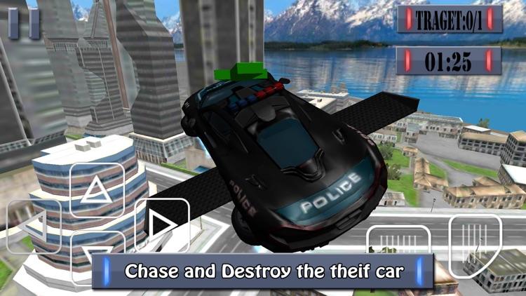 Flying Police Car - Police Chase Mafia Criminal Driver