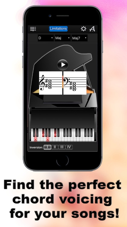 Piano Chords Compass Lite - learn the chord notes & play them screenshot-4