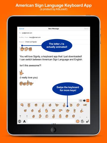 Signily Keyboard - Sign Language Emoji and GIFs! screenshot