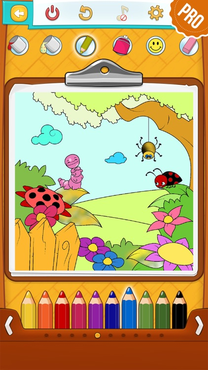 Spring Coloring Pages for Kids PRO - Flower & Butterfly Coloring Book