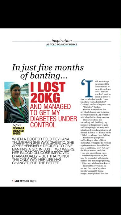 Lose It! Magazine screenshot two