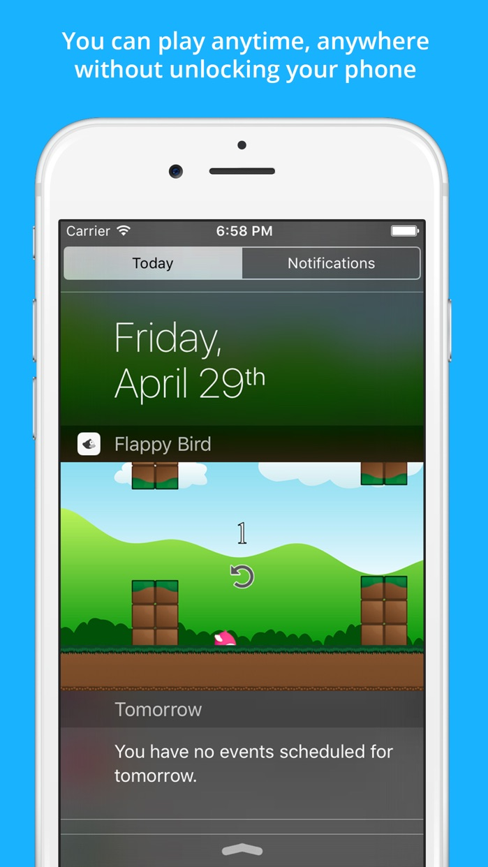 Clumsy Bird - The Trump Jumping And Switch Color Notification Widget Game Screenshot