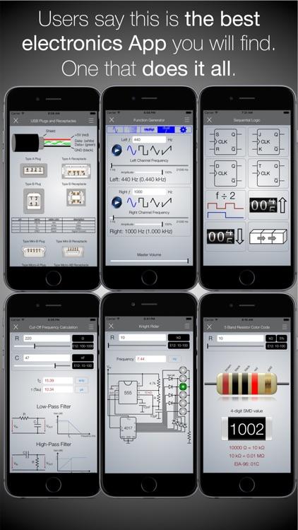 Electronics Engineering ToolKit PRO for iPhone screenshot-3
